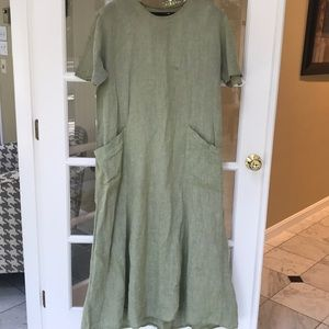 Ladies FLAX Oversized Linen Dress - Sz Large